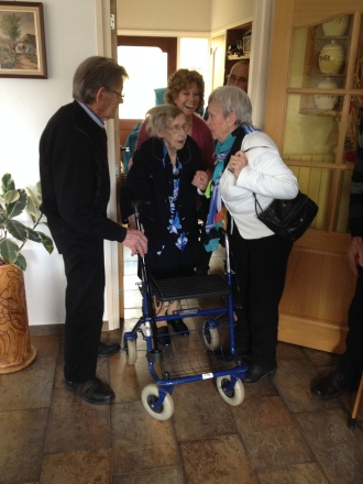 Ome Gerrit, tante Nel, Paulien en tante Mieke