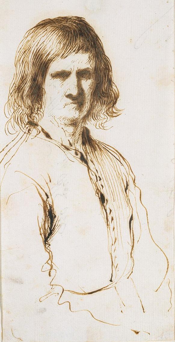 Portret van een morose man